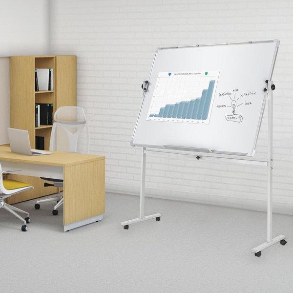 Magnetic Writing Whiteboard With Adjustable Stand Home