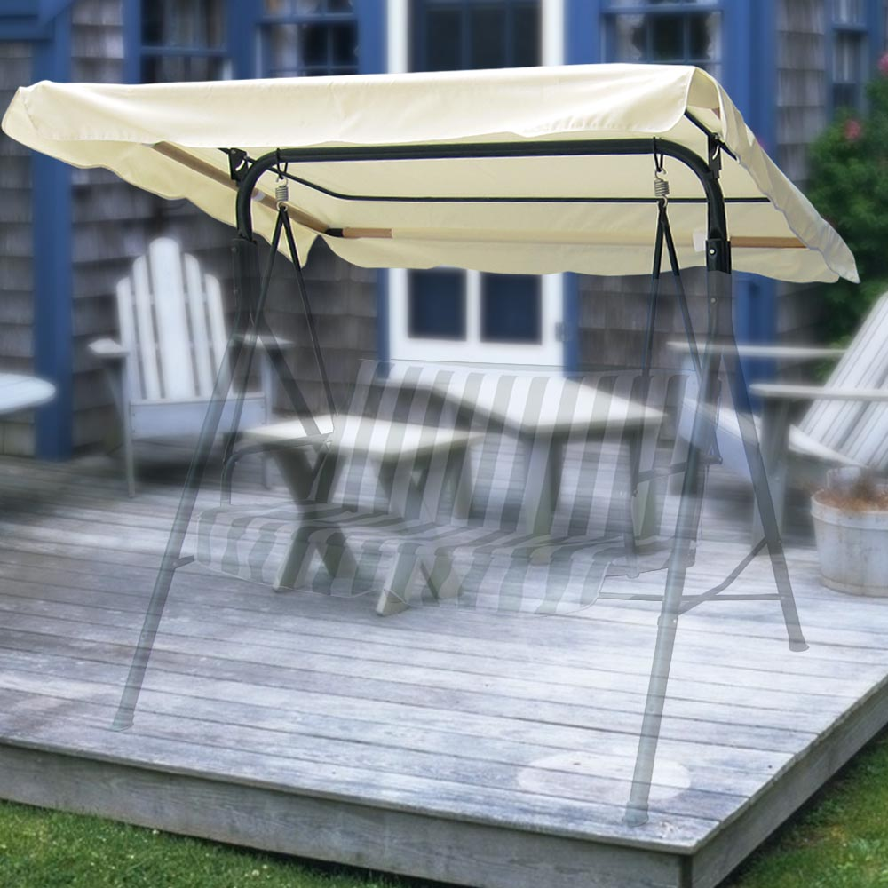 swing chair canopy replacement breakfast table and chairs for two 76 x44 outdoor patio top cover garden uv30 180gsm ebay