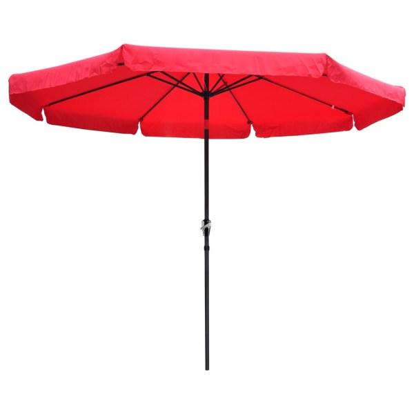 10ft Aluminum Outdoor Patio Umbrella Withvalance Crank Tilt Sunshade Market Garden