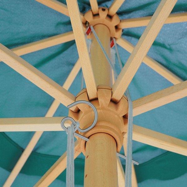 13 Ft Patio Wood Umbrella German Wooden Pole Outdoor Beach Cafe Garden Sun Shade