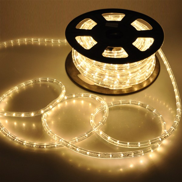 50' Led Rope Light Flex 2 Wire Outdoor Holiday