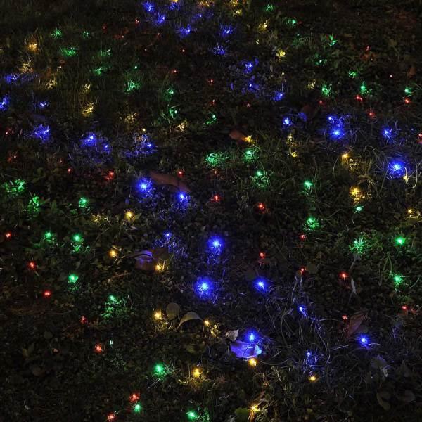 Led Solar String Light Power Fairy Outdoor Yard Lawn Xmas Christmas Net Lamp