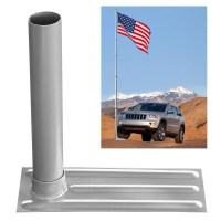 2.4 D. Metal Tire Mount Tailgate Wheel Stand Flag Pole ...