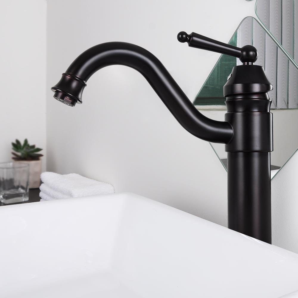 Bathroom Lavatory Vessel Sink Faucet Swivel  One Hole