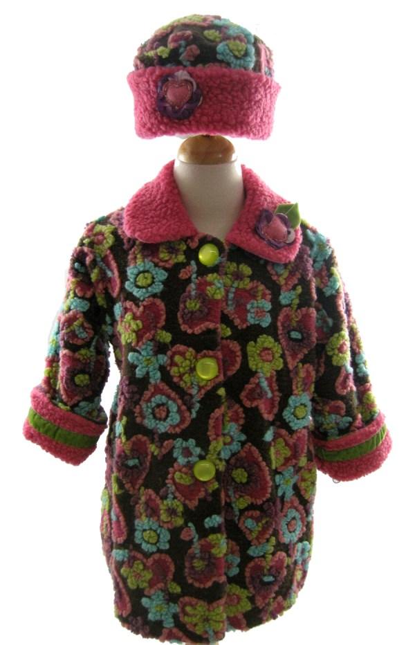 Corky And Company Girls Winter Coat Berry Hearts