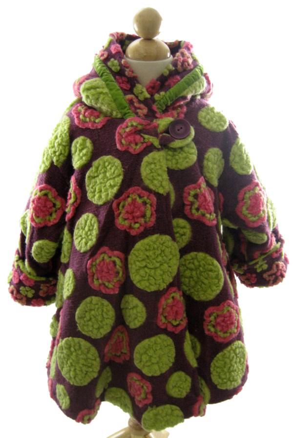 Corky And Company Girls Winter Coat Berry Kaleida