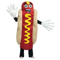 Adult Waving Hot Dog Mascot Halloween Costume | eBay