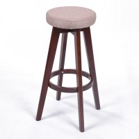 NEW! MODERN BACKLESS WOOD CHEVRON BARSTOOL - 28.5 ...