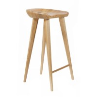 "NEW! MODERN CARVED WOOD BARSTOOL -29"" CONTEMPORARY BAR ..."