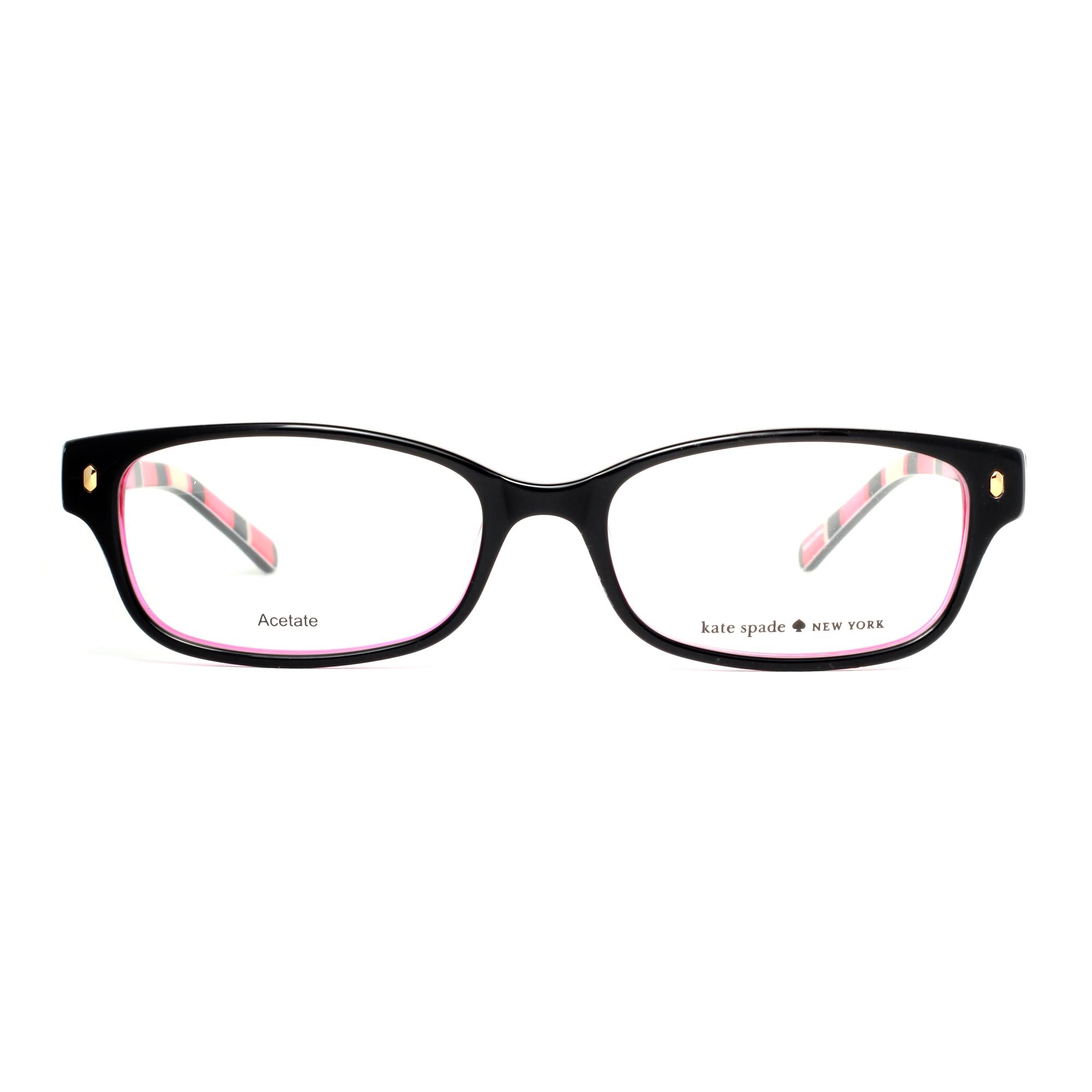 Kate Spade Lucyann X78 Black/Pink Stripe Women's