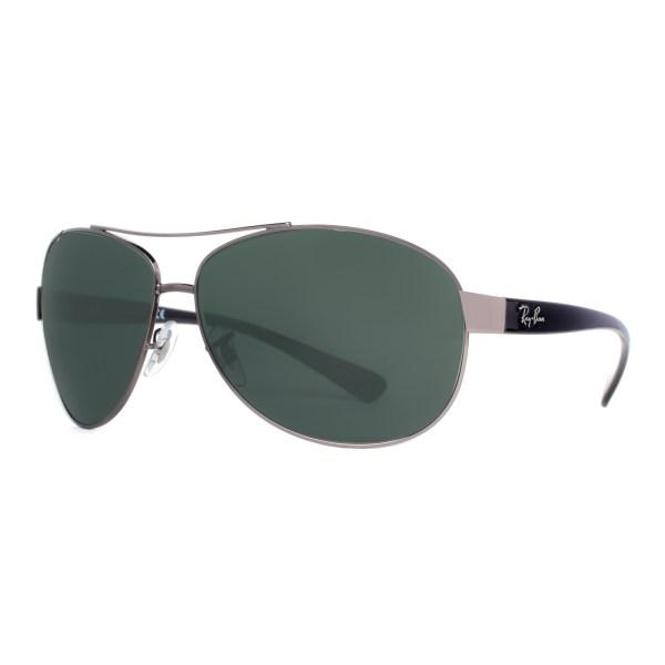Ray Ban Rb 3386 004 71 Gunmetal Black Green Classic Wrap