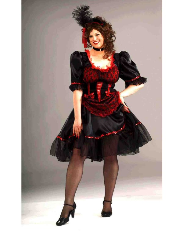 Saloon Girl Black Size Adult Womens Halloween Costume