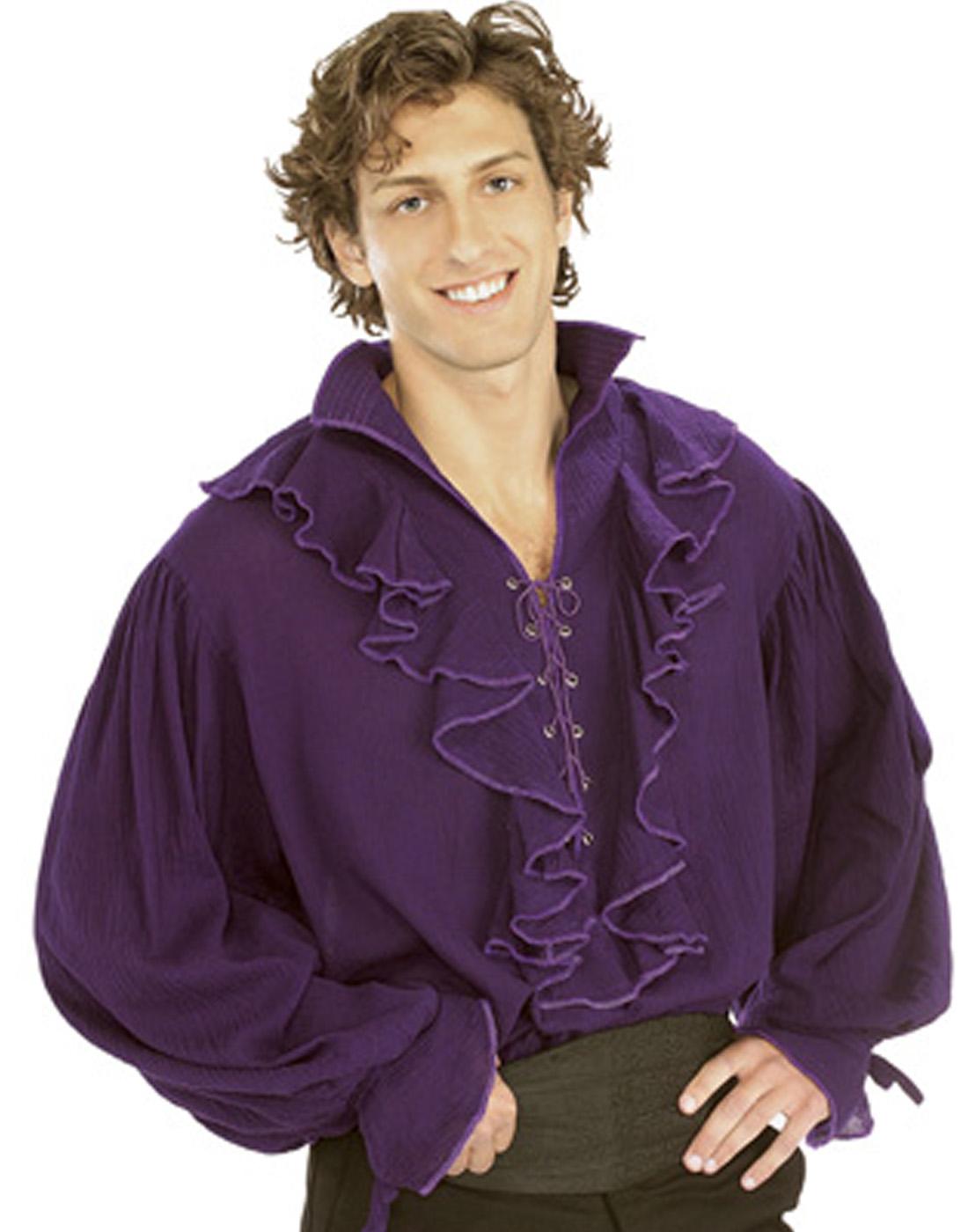 Pirate Puffy Shirt Vampire Ruffle Gauze Blouse Men