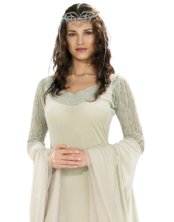 Lord Of Rings Queen Arwen Deluxe Gown Womens Fancy Halloween Costume Std