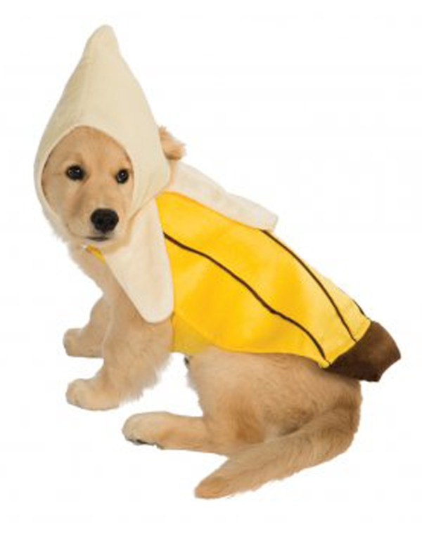 Pet Food Costume Yellow Peeled Banana DogCat Costume