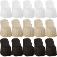Premium Folding Poly Chair Covers For Wedding Party ...