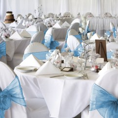 Baby Blue Chair Covers Glider 50 Organza Cover Sash Bow Wedding Party