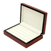 Cherry Wood Cufflink Jewelry Ring Post Earring BOX