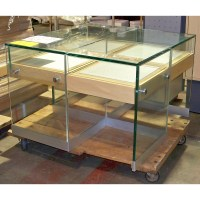 Glass Table Sliding Drawers Store Retail Display Jewelry ...