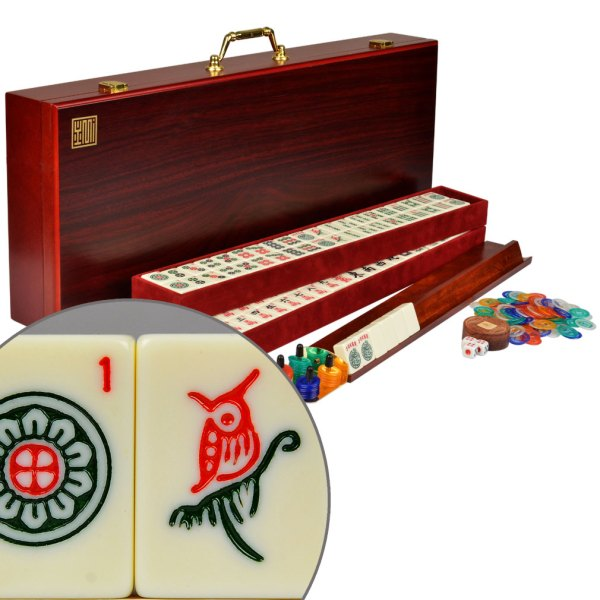 American Mahjong Set 166 Tiles Pushers Racks Mah Jongg