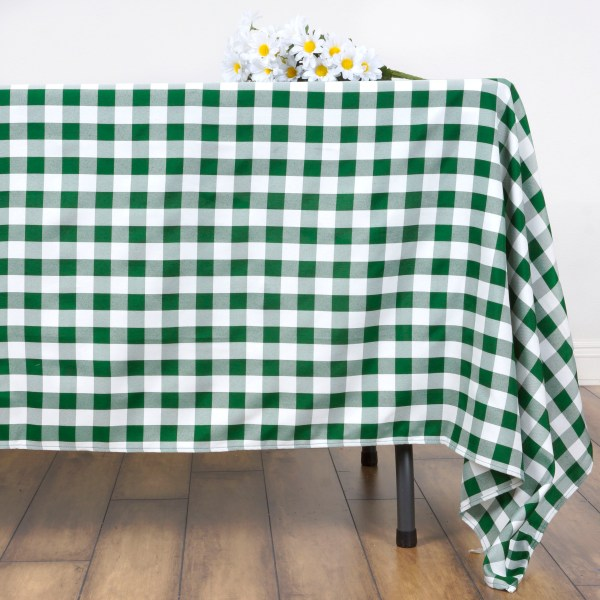 """Perfect Picnic Inspired Checkered 70"""" Square Polyester"""
