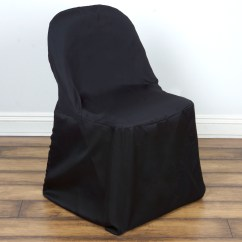 Folding Chair Covers For Wedding Cushions Office Chairs 10 Polyester Round Party