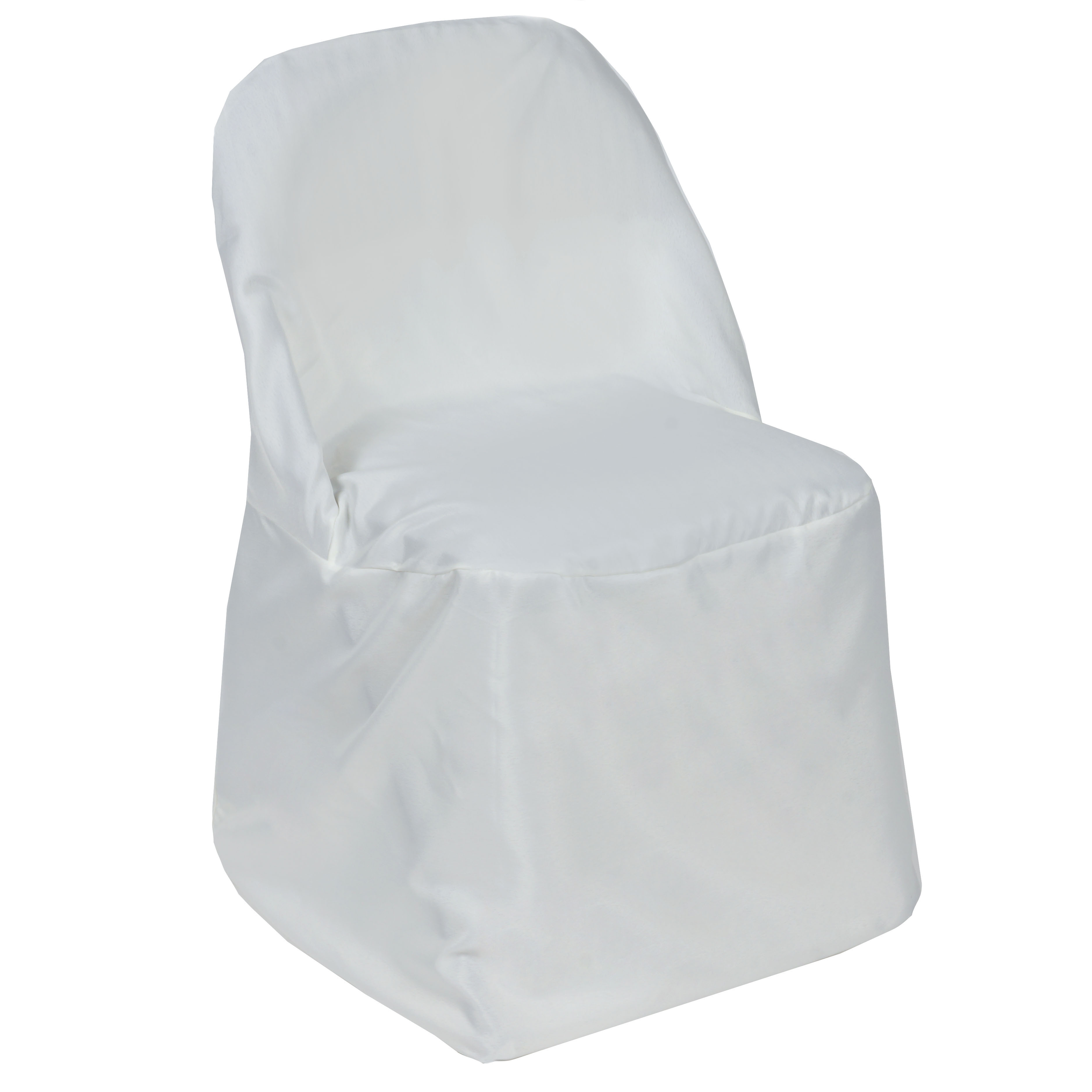 white folding chair covers ebay small office club chairs 100 pcs polyester round wholesale