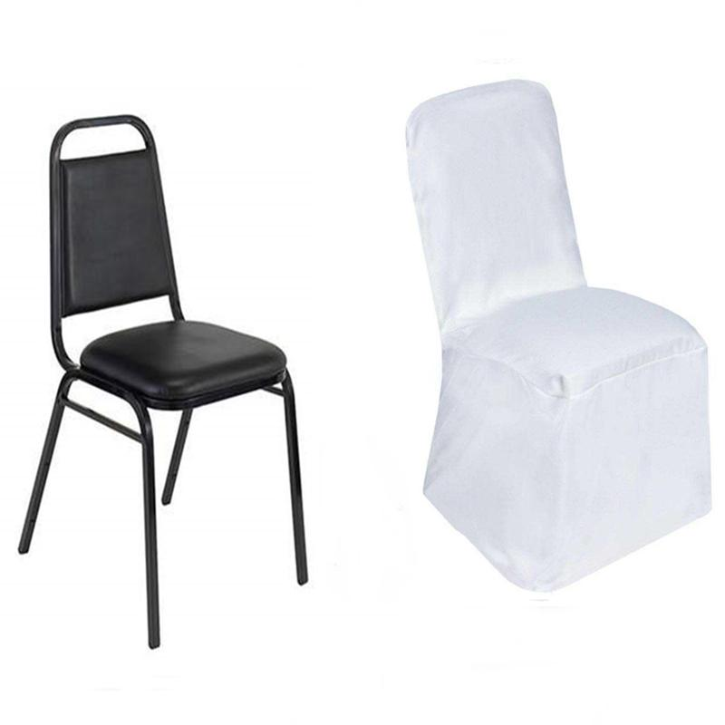 folding chair covers for wedding amazon 10 square top polyester banquet party dinner