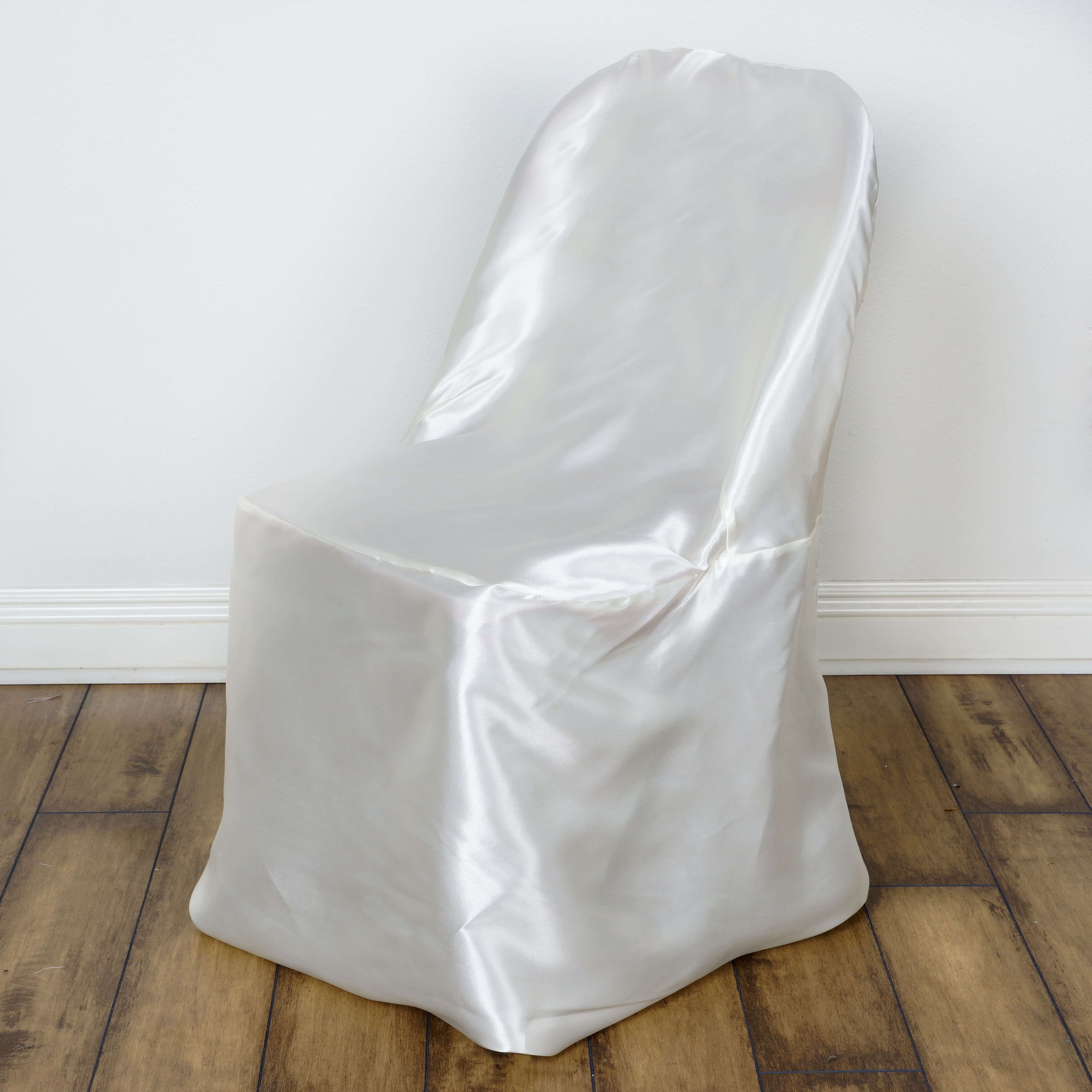 wholesale wedding chair covers living room side chairs 100 pcs satin folding