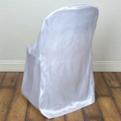 Folding Chair Covers Wholesale White Salon Chairs 100 Pcs Satin Wedding