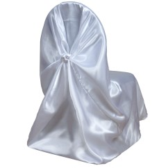 Universal Wedding Chair Covers Face Down Beach Chairs 100 Pcs Satin Wholesale