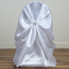 Universal Wedding Chair Covers Office You Sit Backwards 100 Pcs Satin Wholesale
