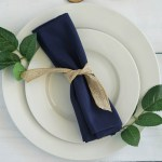 25 Pcs Navy Blue Polyester 17x17 Table Napkins Wedding Party Kitchen Linens Ebay