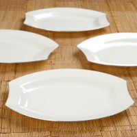"Plastic 10.5"" PLATES Silver EDGE Disposable TABLEWARE ..."