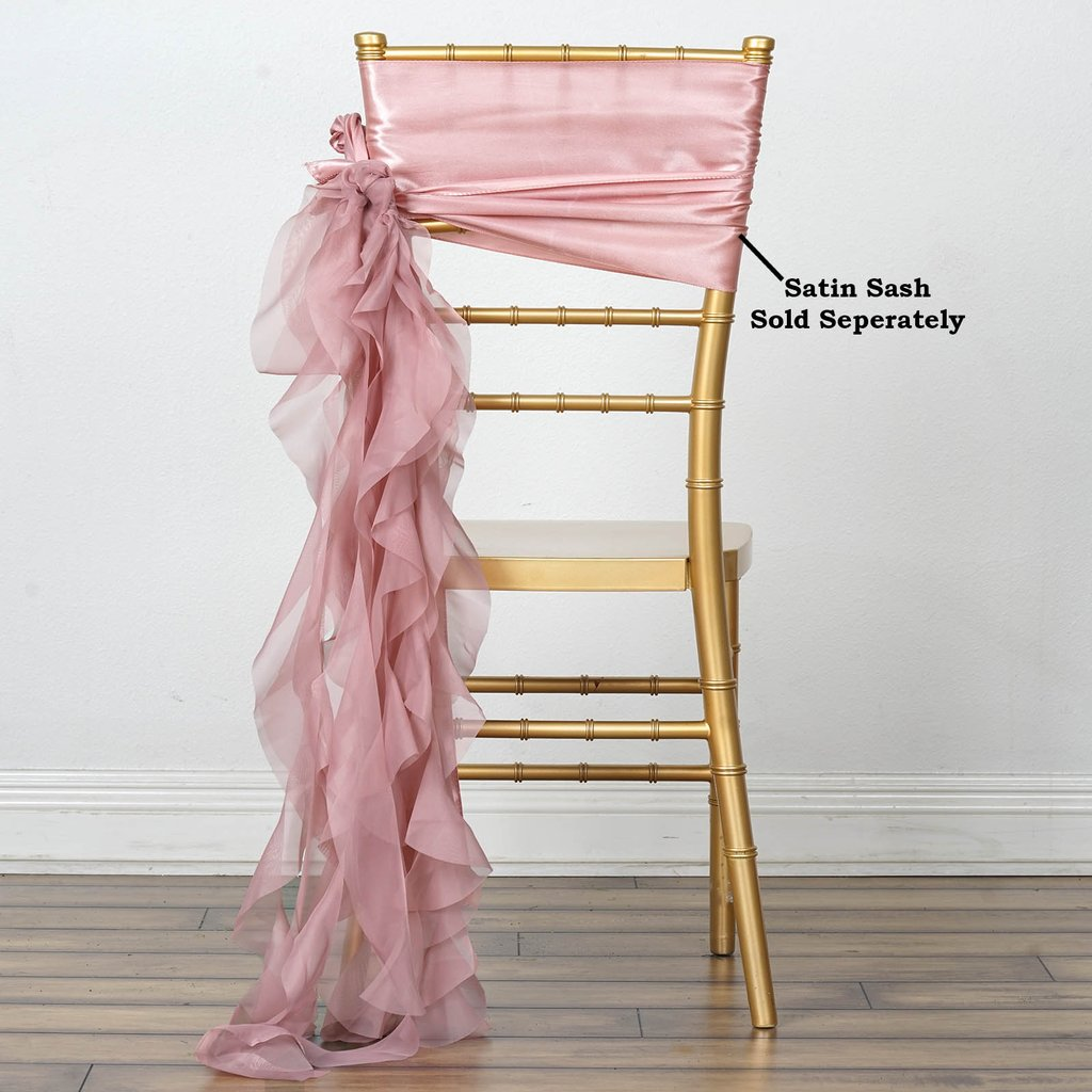 where to buy chair sashes swing johannesburg dusty rose chiffon curly sash wedding party decorations details about wholesale sale