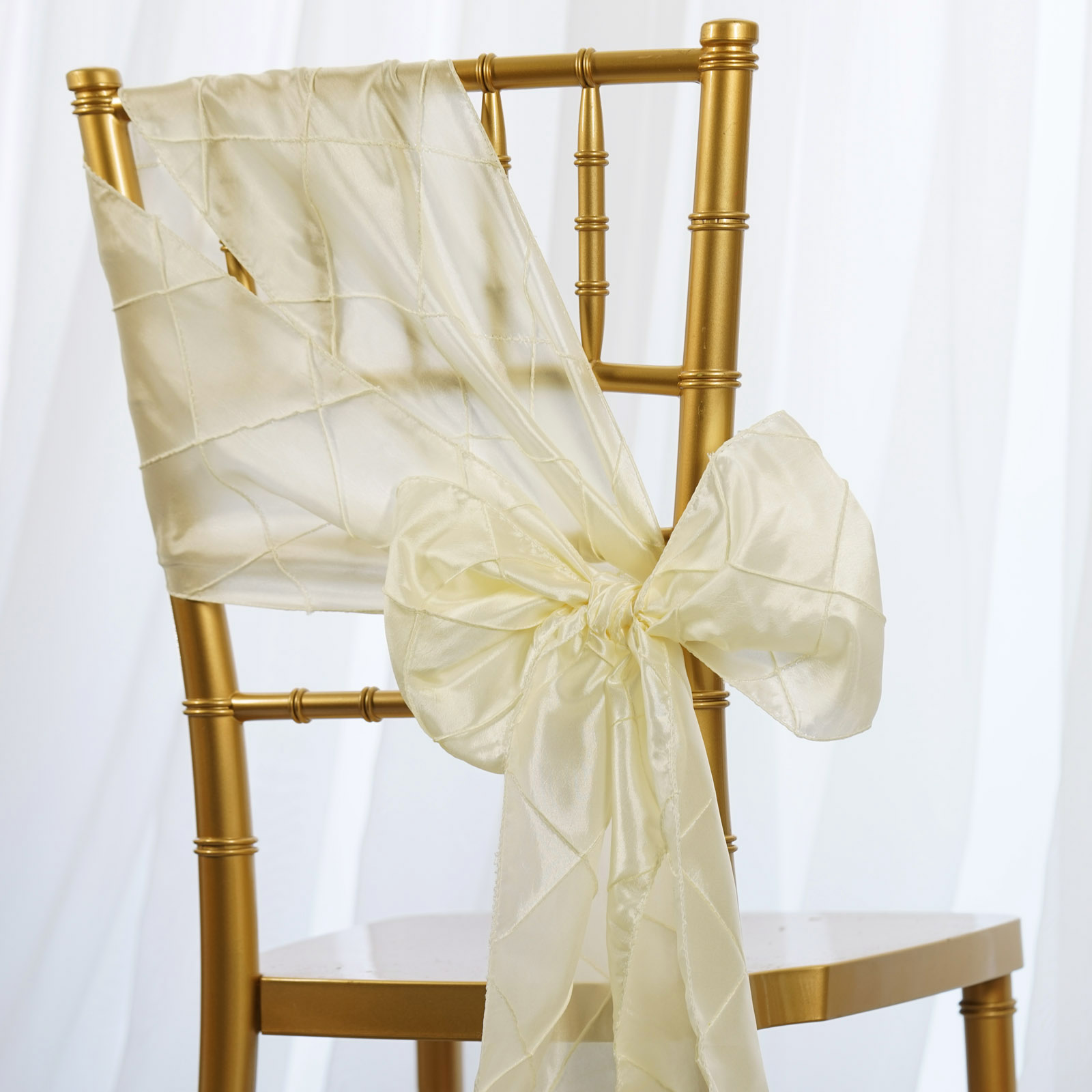 wedding chair covers and bows hanging ikea 25 pintuck taffeta sashes ties party