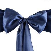 100 Satin CHAIR SASHES Ties Bows Wedding Party Catering ...