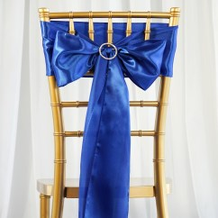 Royal Blue Chair Sashes Living Room Side Chairs With Arms 10 Satin Ties Bows Wedding Party