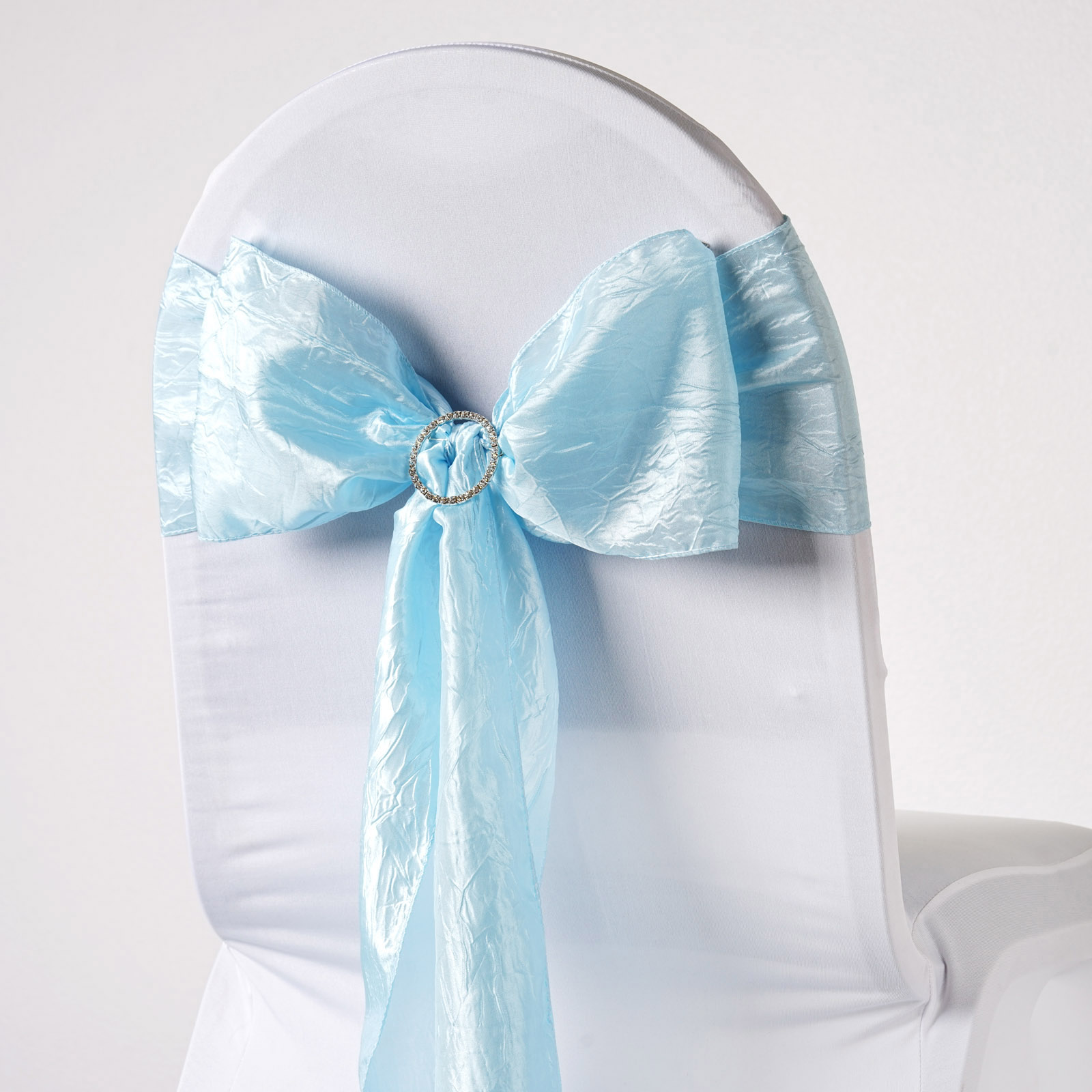 baby blue chair covers slip covered 10 light crinkled taffeta sashes ties bows wedding details about decorations sale