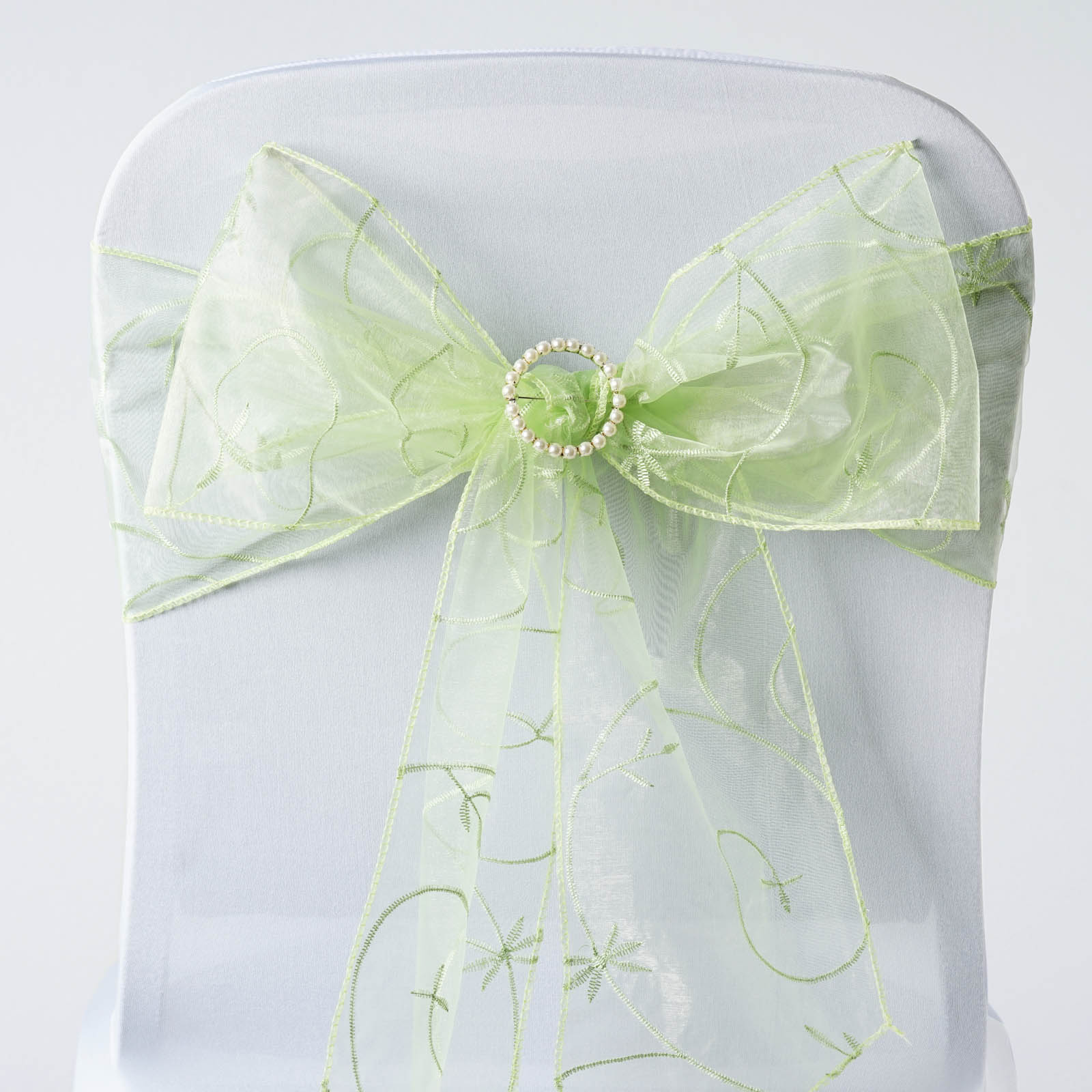 organza wedding chair sashes covers from india 20 embroidered ties bows