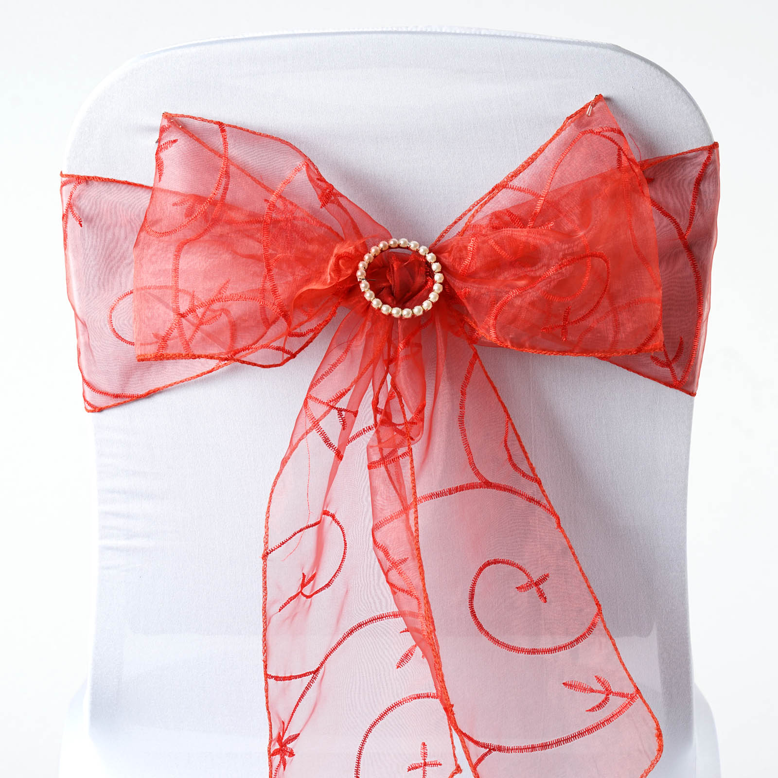 Chair Sashes For Sale 25 Embroidered Organza Chair Sashes Ties Bows Wedding
