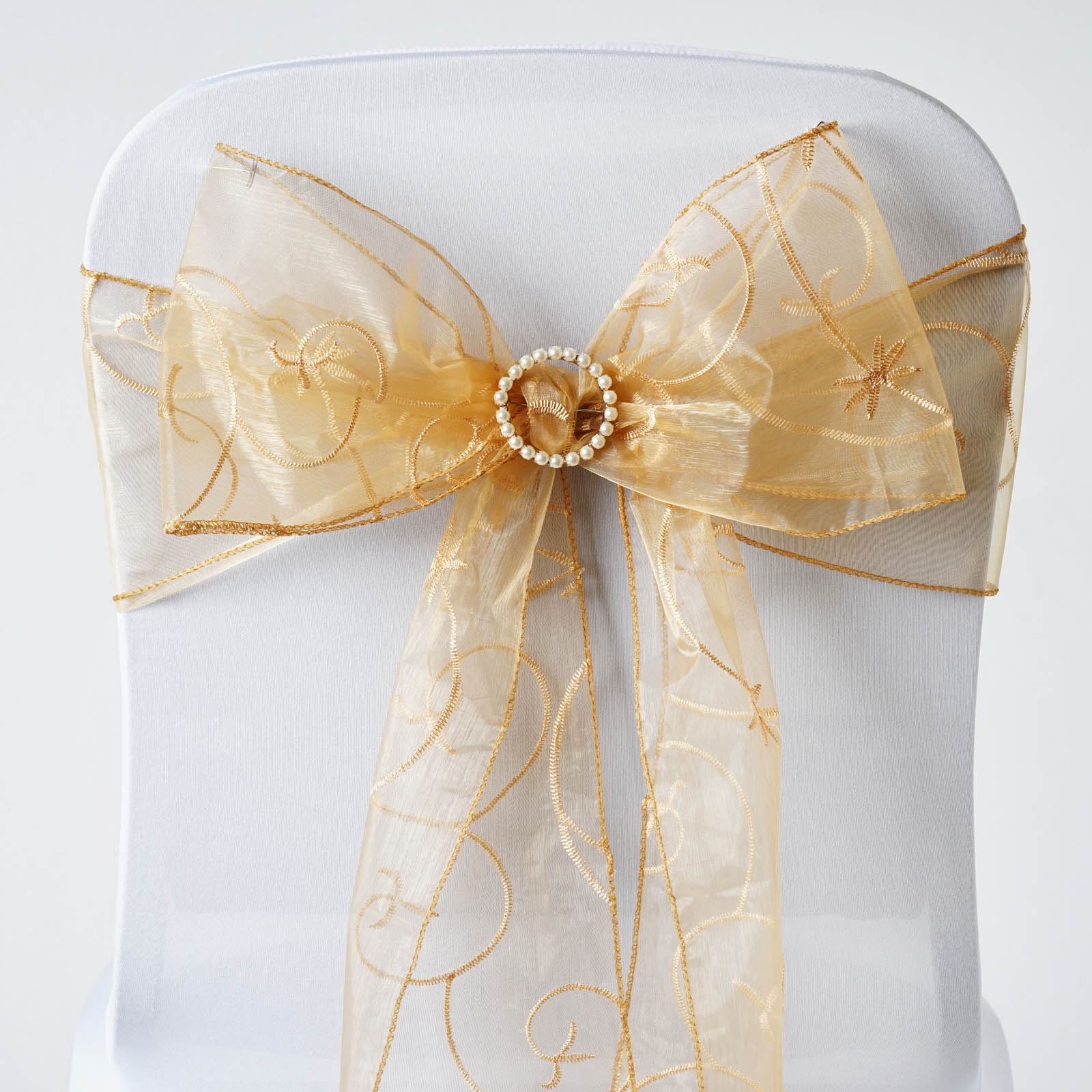 organza wedding chair sashes bentwood bistro chairs 200 x wholesale embroidered ties bows