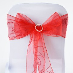 Organza Wedding Chair Sashes Reclining Shower 20 Embroidered Ties Bows