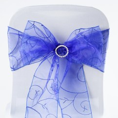 Royal Blue Chair Sashes Resin Wicker Chairs Home Depot 10 Embroidered Organza Ties Bows