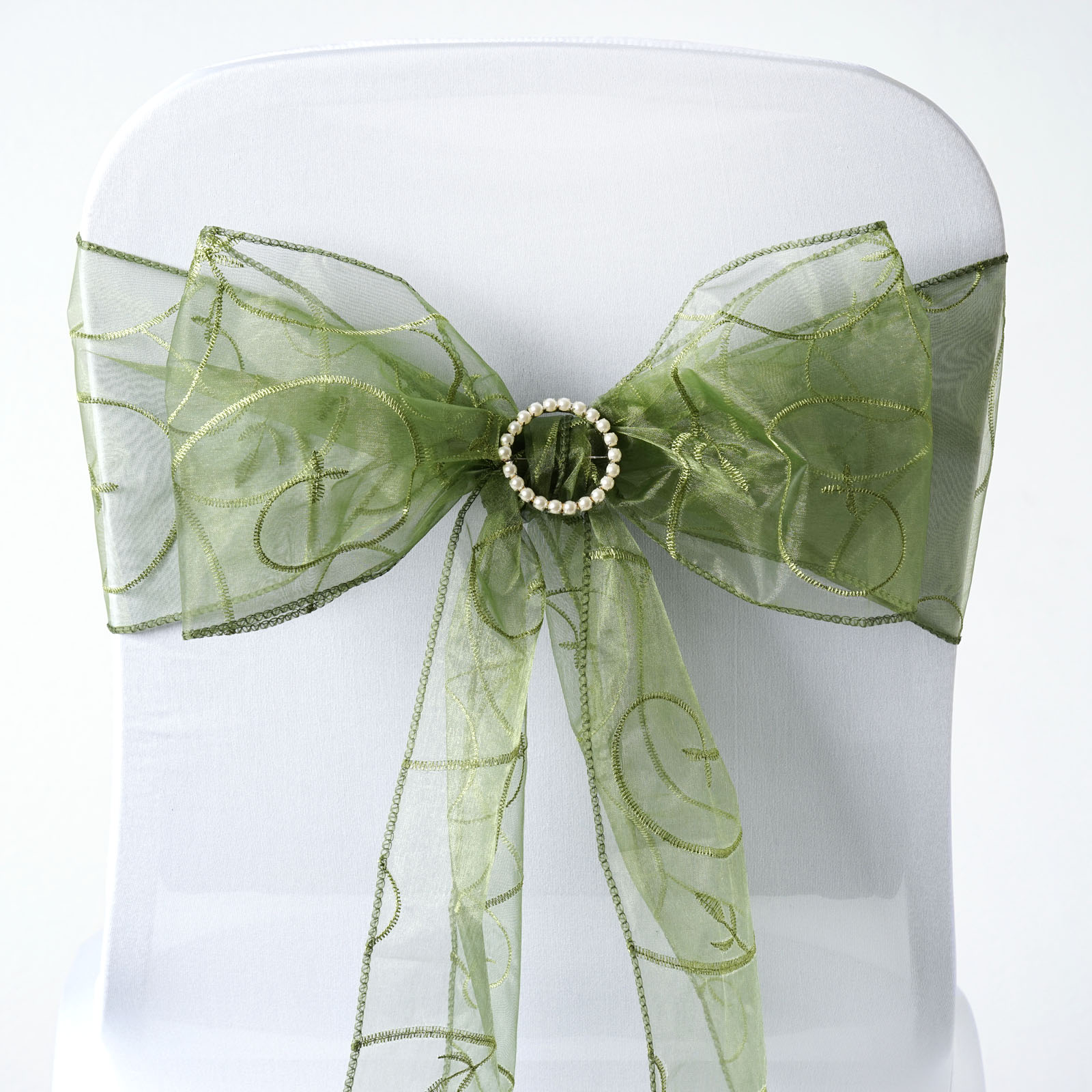 Chair Sashes For Sale 20 Embroidered Organza Chair Sashes Ties Bows Wedding