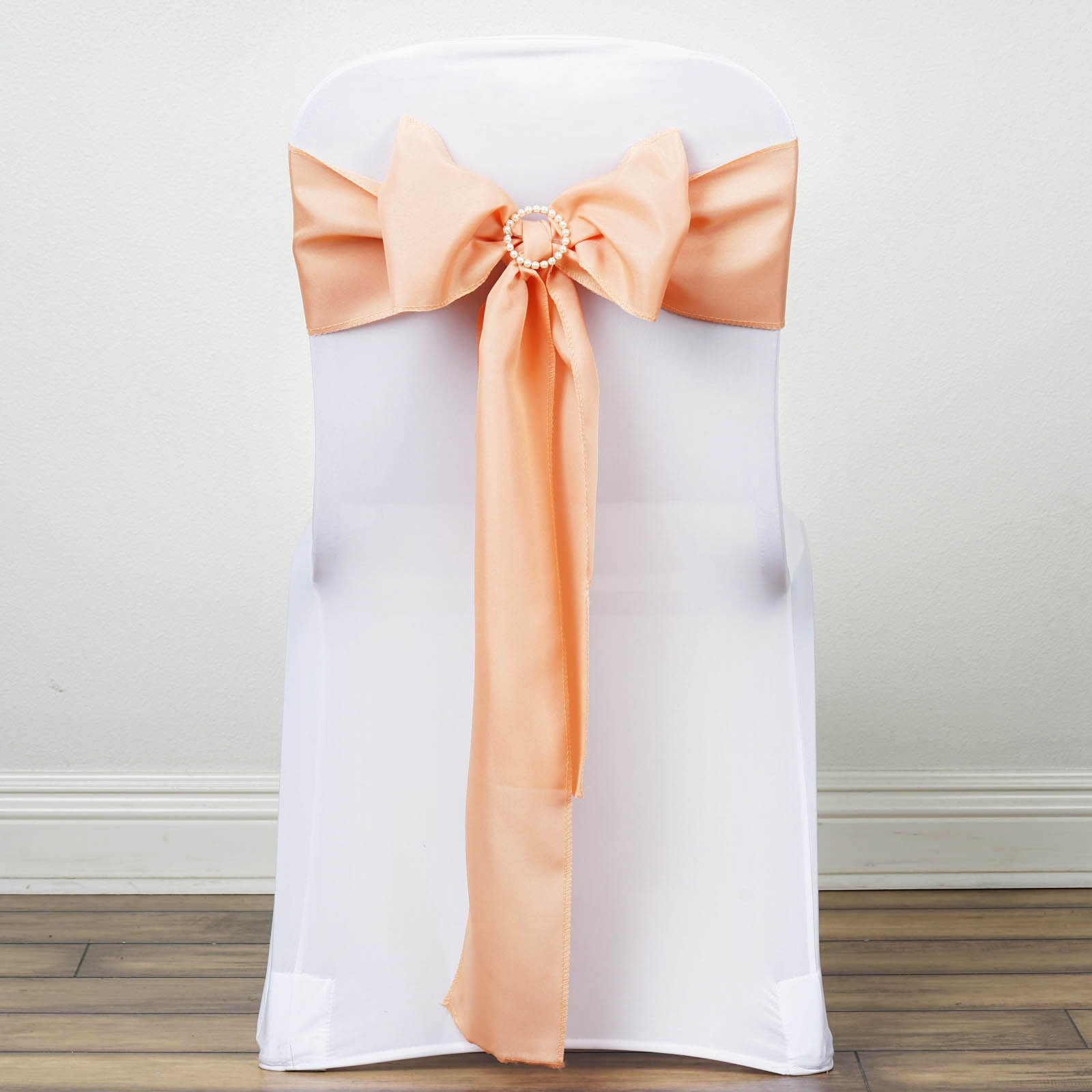wedding chair covers with bows toddler soft chairs 50 polyester sashes ties party ceremony