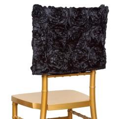 Cheap Chair Cover Decorations Girls Bean Bag Chairs 100 Pcs Satin Ribbon Roses Square Cap Covers Wedding