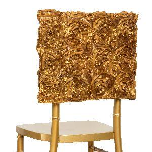decorative chair covers wedding lazy boy cover 100 pcs satin ribbon roses square cap