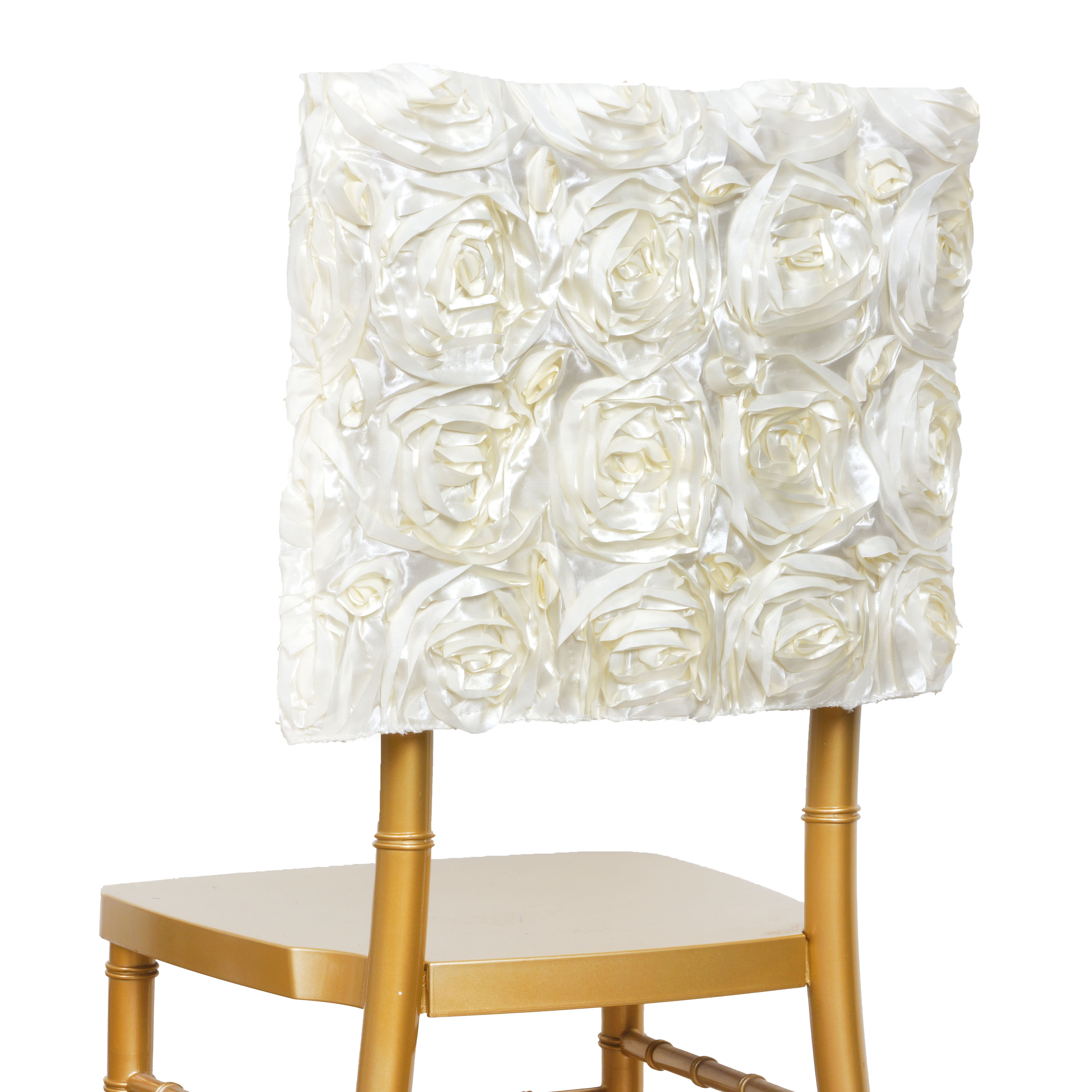 cheap chair cover decorations white modern chairs with wood legs 100 pcs satin ribbon roses square cap covers wedding
