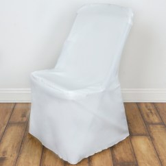 Folding Chair Covers For Wedding Big Lots Lounge Chairs 10 Pcs Lifetime Slipcovers Polyester
